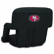 NFL San Francisco 49ers Portable Ventura Reclining Seat, Black