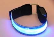 LED Blue Safety Armband Jogging Walking Reflective LED Armband