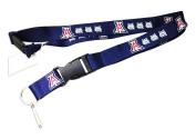Arizona Wildcats Clip Lanyard Keychain Id Ticket Holder