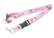 Kansas Jayhawks Clip Lanyard Keychain Id Holder Ticket Ncaa - Pink