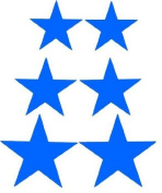 Blue Star Bicycle Reflective Reflector Sticker Decal