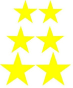 Yellow Star Bicycle Reflective Reflector Sticker