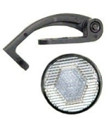 ACTION REFLECTOR ACTION FRONT ROUND CLEAR W/BRCKET