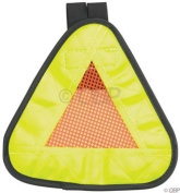 Aardvark Reflective Yield symbol 17.8cm x 17.8cm with hook and loop Strap