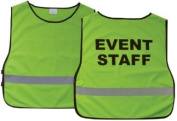 """""""Event Staff"""" Lime Green Reflective Safety Vest"""