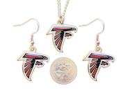 Atlanta Falcons Necklace and Dangle Earring Charm Set NFL
