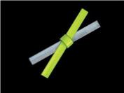Reflective Slap Bracelet - Lime