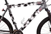 BikeWrappers Reflectors - Black and Grey Polka Dots