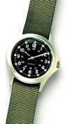 Military GI Style Quartz Watch with Olive Drab Band