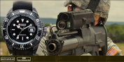 Shark Army Mens Black Nylon Date Military Sport Quartz Watch + Gift Box