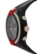 Ohsen Red Surface Round Dial Analogue Date Alarm Waterproof Watches