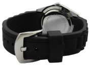 Trax Women's TR3925-BK Rox Black Rubber Black Dial Crystal Bezel Watch
