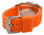 Trax Women's TR5132-WO Posh Square Orange Rubber White Dial Watch
