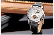 KS Luxury Tourbillion Moon Phase Automatic Mechanical White Dial Mens Wrist Watch