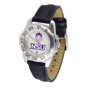 Northwestern State Demons Suntime Sport Leather Ladies NCAA Watch