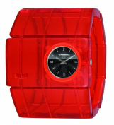 Vestal Rosewood Acetate Watch - Women's Red/Red/Black/Black Logo, One Size