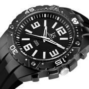 Joshua & Sons Men's JS-36-BK Bold Swiss Quartz Silicon Strap Watch