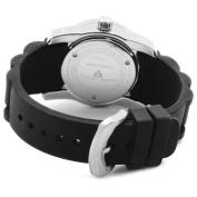 Swiss Legend Women's 10114-01 Commander Black Polyurethane and Stainless Steel Watch
