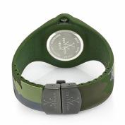 Toy Watch Women's JYA01HG Jelly Army Green Camo Rubber Watch