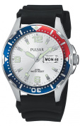 Pulsar Men's PXN109 Sport Black Polyurethane Strap Watch
