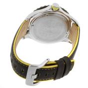 Invicta Men's 12614 Pro Diver Silver Dial Black Leather Strap Watch