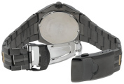 Seiko Men's SGEE57 Sporty Dress Black Ion Finish Watch