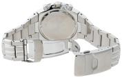 Seiko Men's SNAD35 Silver-Tone Black Bezel Sport Alarm Chronograph Watch