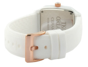 TKO ORLOGI Women's TK579-WT Genuine Ceramic White Rubber Strap Watch