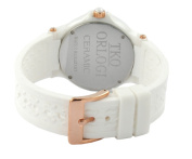 TKO ORLOGI Women's TK578-WT Genuine Ceramic White Rubber Strap Watch