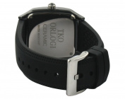 TKO ORLOGI Women's TK579-BK Genuine Ceramic Black Rubber Strap Watch