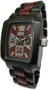 Tense 3 Window Time - Day - Month Dial All Sandalwood Wood Watch J8302DS ANDF