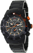 Swiss Precimax Men's Pursuit Pro SP13298 Black Stainless-Steel Swiss Chronograph Watch with Grey Dial