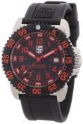 Luminox Colormark Quartz Black Strap Black Dial Red Markers Men's Watch - 3165