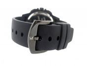 Le Chateau Men's 5504MRUB_GUN Sport Dinamica Steel Black Ion-Plated Chrono Watch