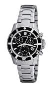 Wenger Women's 70746 Sport Elegance Chrono Black Dial Steel Bracelet Watch