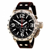 T.W. Steel Gents Stainless Steel Black Dial Men's Watch - TWS TW11
