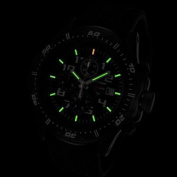 Armourlite Professional Series Black Chronograph with Black & Red Kevlar Band Watch