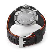 Seiko Men's SPC047P2 Sportura Black Leather Strap Black Chronograph Dial Watch