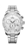 Edox Women's 10406 3 NAIN Royal Lady Chronograph Mother-of-pearl Steel Watch