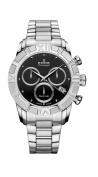 Edox Women's 10406 3 NIN Royal Lady Chronograph Black Dial Steel Watch