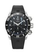 Edox Men's 10020 3 NBU Class 1 Chronograph Big Date Black Dial Watch