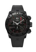 Edox Men's 10020 37N NRO Class 1 Chronograph Black PVD Black Dial Watch
