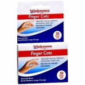 Walgreens Finger Cots, Assorted, 30 ea