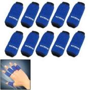 Blue 10PCS Sports Elastic Finger Sleeve Support Protector