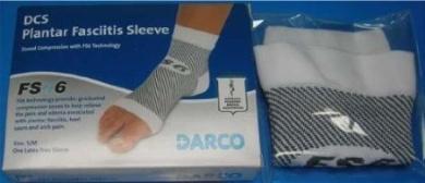 Darco FS6 DSC Plantar Fasciitis Sleeve Zoned Compression Sock, Size L (Men 10-13, Women 11+).