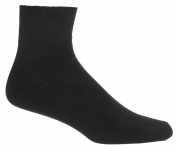Black Ankle Socks 3 Pack  Mens Diabetic Socks   Seamless Toe   Sugar Free Sox