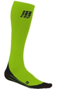 CEP Compression WP40G33 CEP Womens Running O2 Compression Socks - Size- III -12.5-38.1cm . calf, Colour- Green