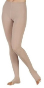 Juzo 2001ATFL14 II Small Soft Open Toe Firm Compression Pantyhose with Fly - Beige