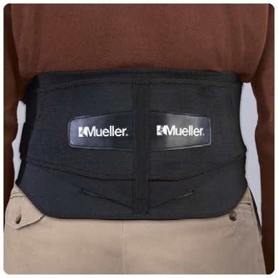 Mueller Lumbar Back Brace with Removable Pad Extended fits waist sizes 106.7cm to 182.9cm