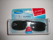 Solar Shield 54 Rec 15 Ultra Light Frame Polarised Grey Clip on Sunglasses size